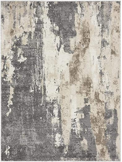 Luxe Weavers Euston Gray 8 x 10 Abstract Modern Area Rug 7681