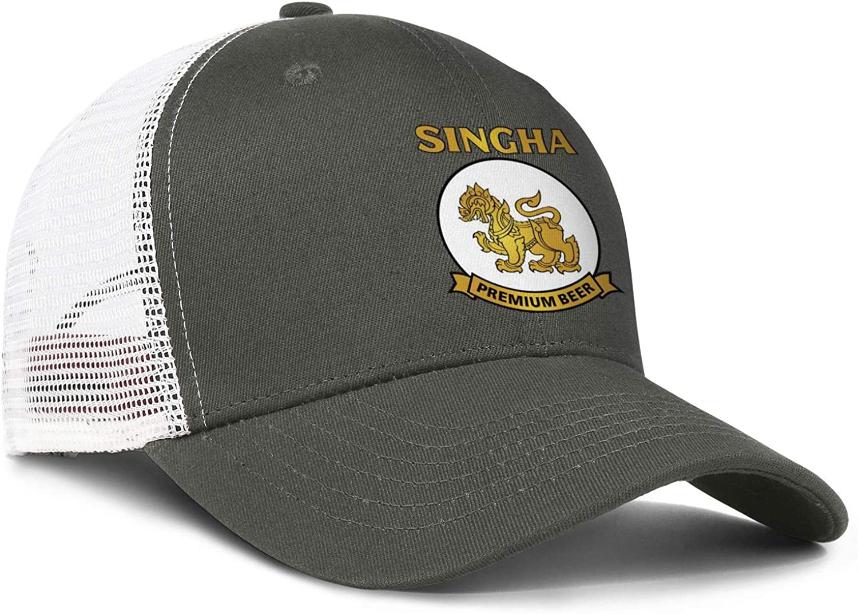 chenhou Unisex Singha Drink Hat Adjustable Fitted Dad Baseball Cap Trucker Hat Cowboy Hat