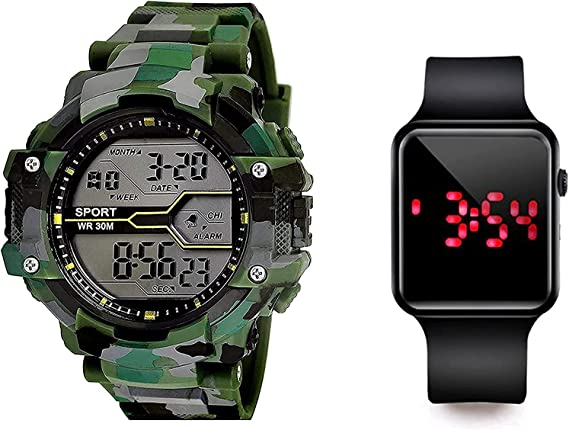 SELLORIA Shockproof Waterproof Digital Sports Watch for Men's Kids Sports Watch for Boys - Military Army Watch for Men,Kids