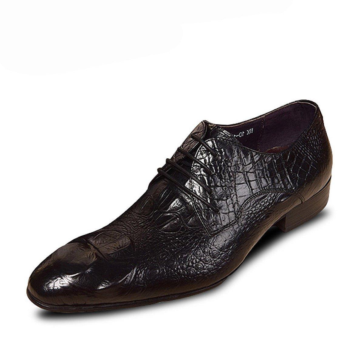 GRRONG Mauml;nner Hochzeit Derby-Schuhe Geschauml;fts-Kleid-Schuhe  41|Black