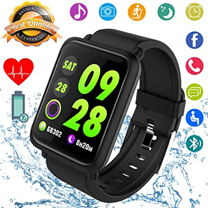 Smart Watch, Fitness Tracker Smartwatch Activity Tracker with Heart Rate Blood Pressure Monitor IP67 Waterproof Fitness Watch Sports Wrist Android ...