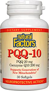 Natural Factors, PQQ-10, Supports Energy and Healthy Aging, Dietary Supplement, 30 softgels (30 Servings)