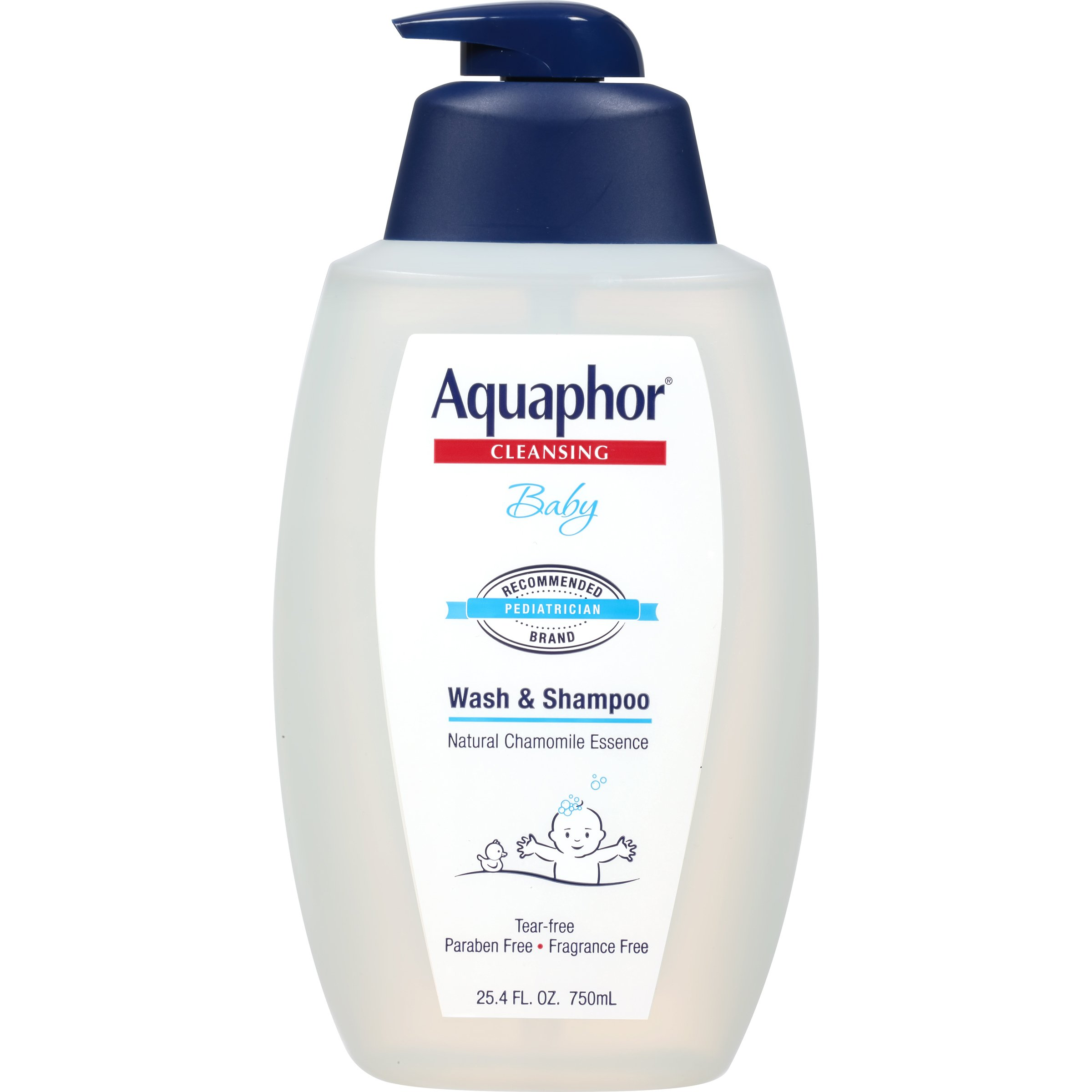 Aquaphor Baby Wash and Shampoo, 25.4 Fluid Ounce - Pediatrician Recommended Brand