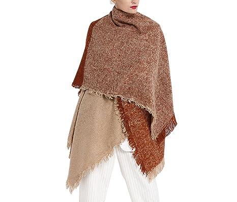 2c0b57f4f42f84 GoGou Winter Schal Frauen Warme Kaschmir Schals Mode Decke Schals Luxus  Allmähliche Dicke Wrap Pashmina Schal