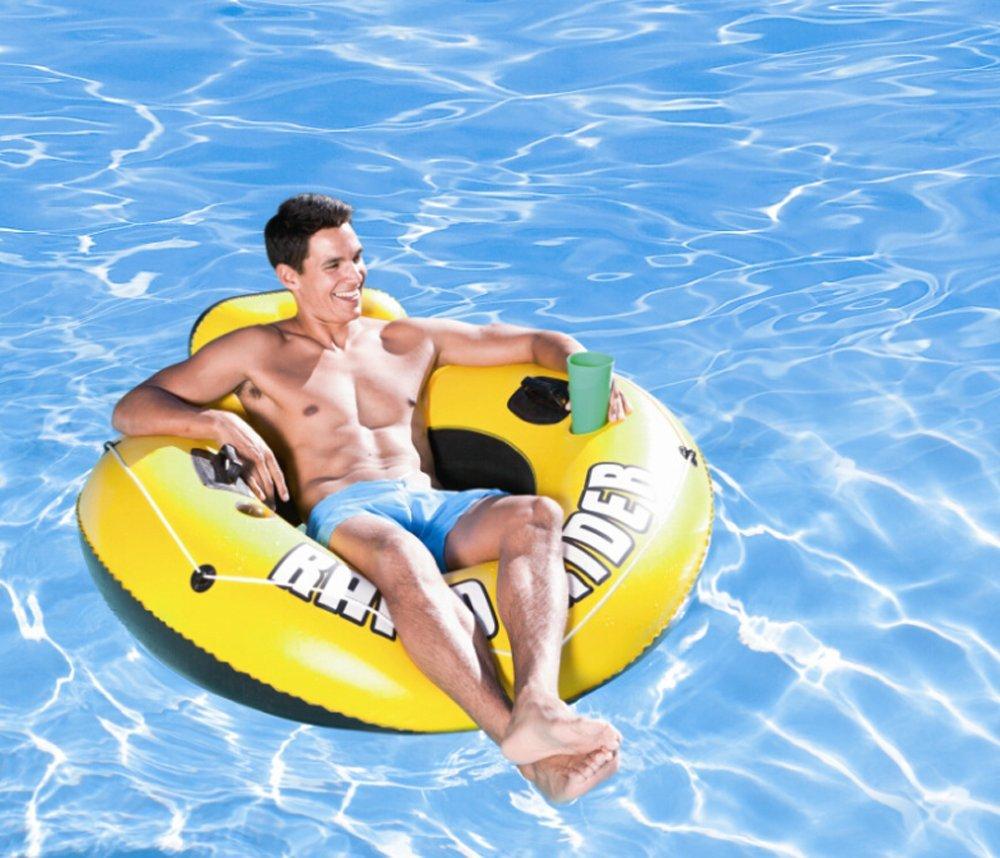 CHRRI Cama Flotante En El Agua Anillo Flotante Inflable Reclinable De Una Sola Fila