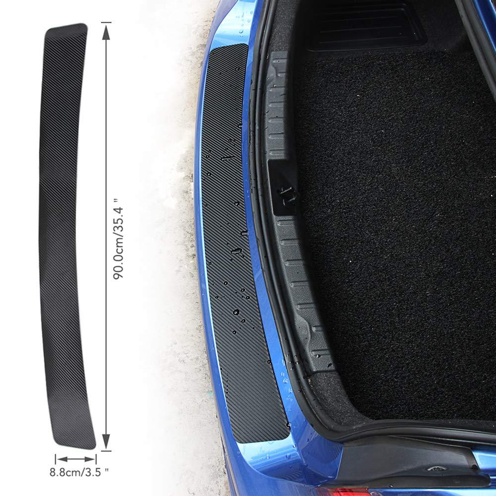Protector de Fibra de carbon para parachoques trasero, para la mayorí a de coches para la mayoría de coches WOQUi