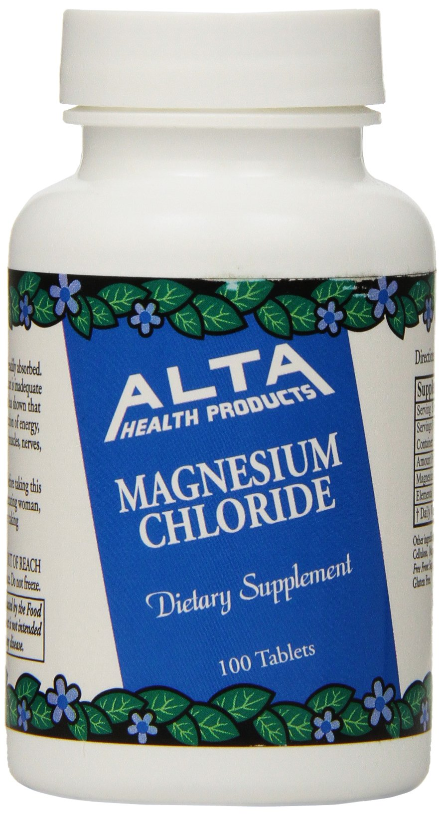 Alta Health Magnesium Chloride Tablets, 100 Count