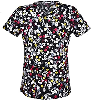 OPPP Abbigliamento medico Camicia Medica Donna, Scrub, Camicia, Cotone, Divisa chirurgica, Dottore, camiciera, Camice, Camicia a V, Collo