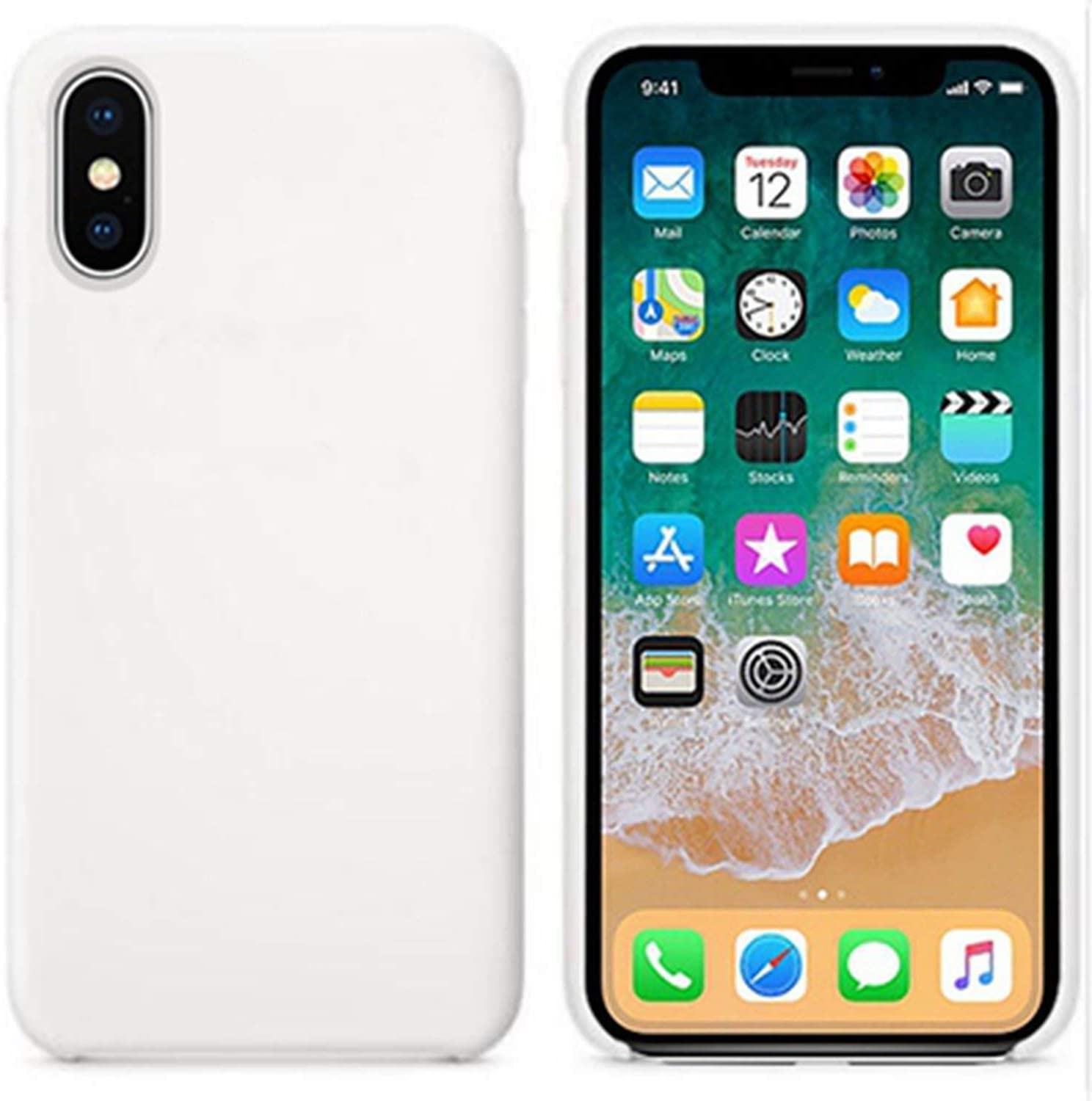 silicone case for iphone 6 6s 5 se7 8 plus x xs xr xs max silicon phone cover for retail box white for iphone 7 8 plus amazon ca cell phones accessories amazon ca