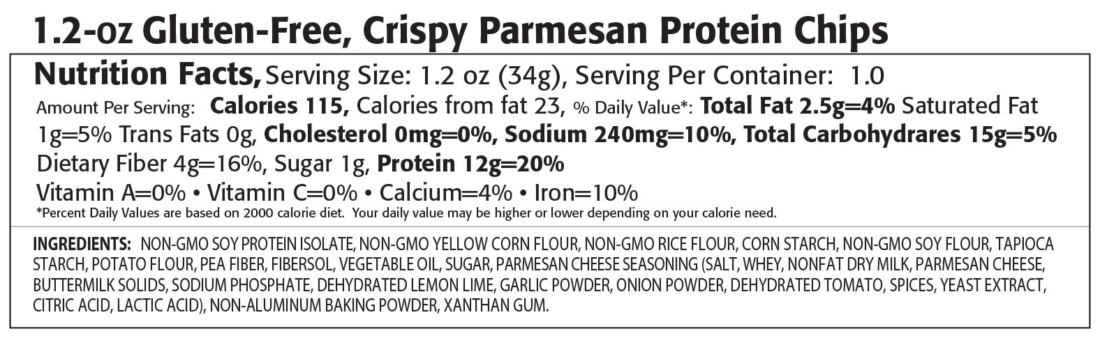Kay's Naturals Protein Chips, Crispy Parmesan, 1.2 Ounce (Pack of 12)