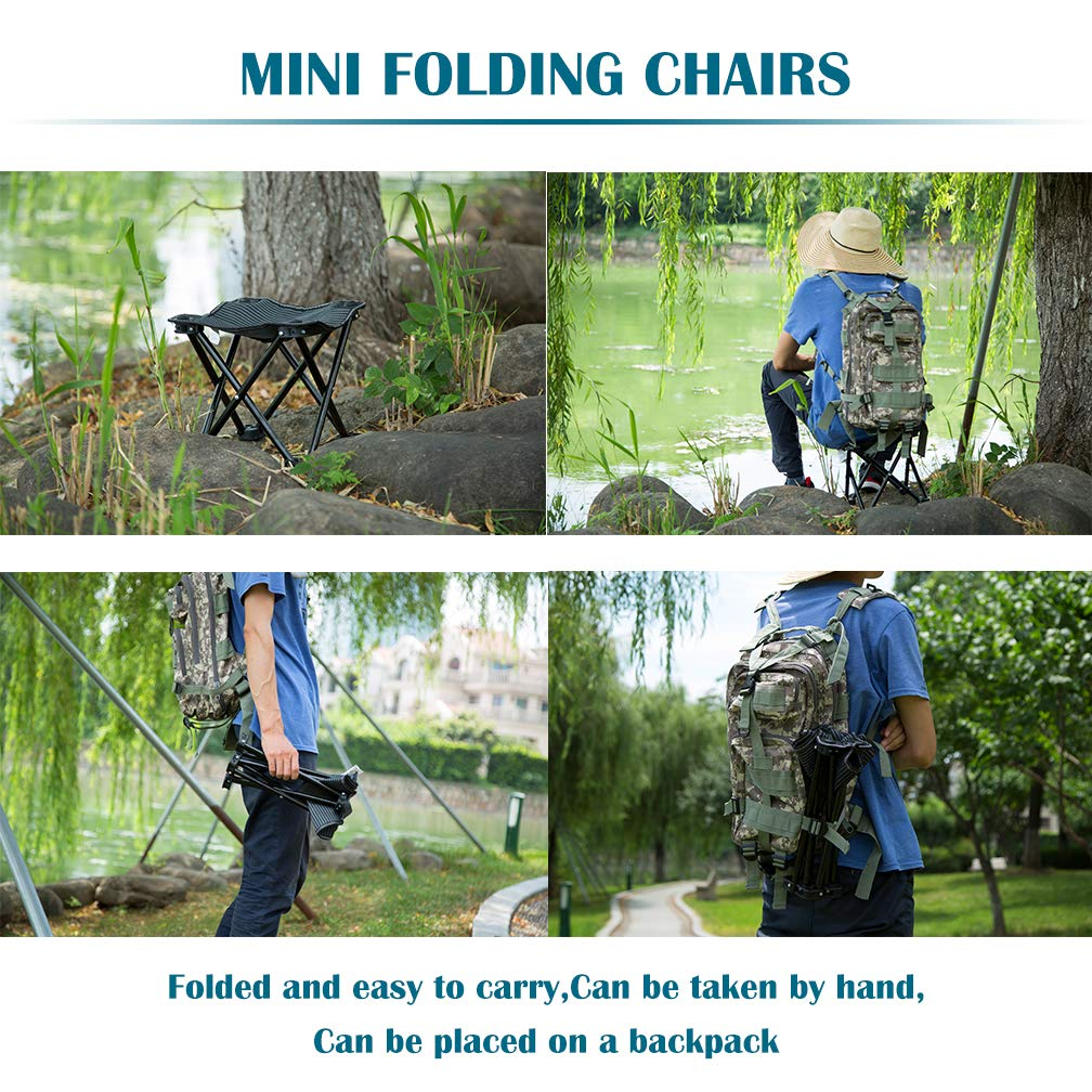 FairyMe Small Folding Chair Portable Camp Stool for Camping,Hiking,Fishing Travelling,Gardening,Beach Chairs by FairyMe (Image #6)
