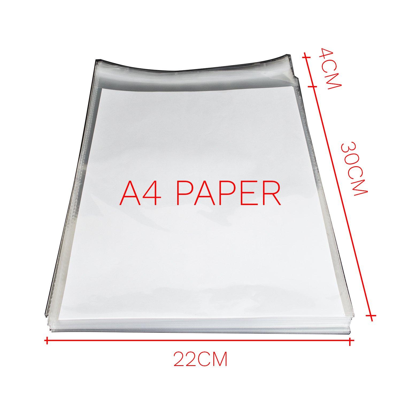 100 pcs A4 Bolsas de Celofán Transparente Plastico Pequeñas ...