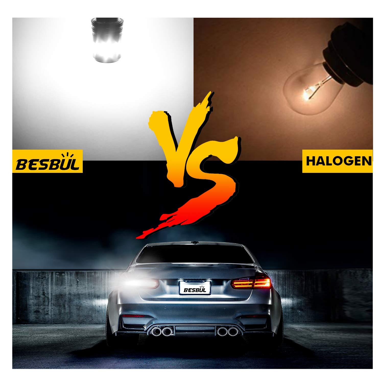 BA15S LED 12V-40V Compatible Tail Light Extremely Bright 7506 LED Bulb 1003 1141 LED Bulb For RV Indoor Light 6000K White Pack of 2 Backup Reverse Light Besbul 1156 LED Bulb Brake Light