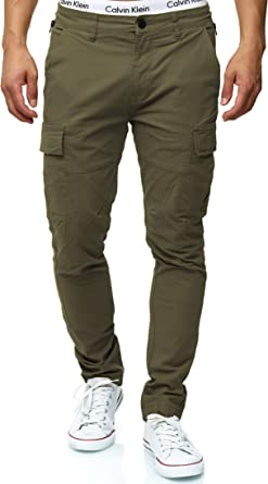 Largo Regular Fit Pantalones De Tiempo Libre Senderismo Trekking Pants Aire para Hombres Indicode Caballeros Broadwick Pantal/ón Cargo En Algod/ón con 6 Bolsillos