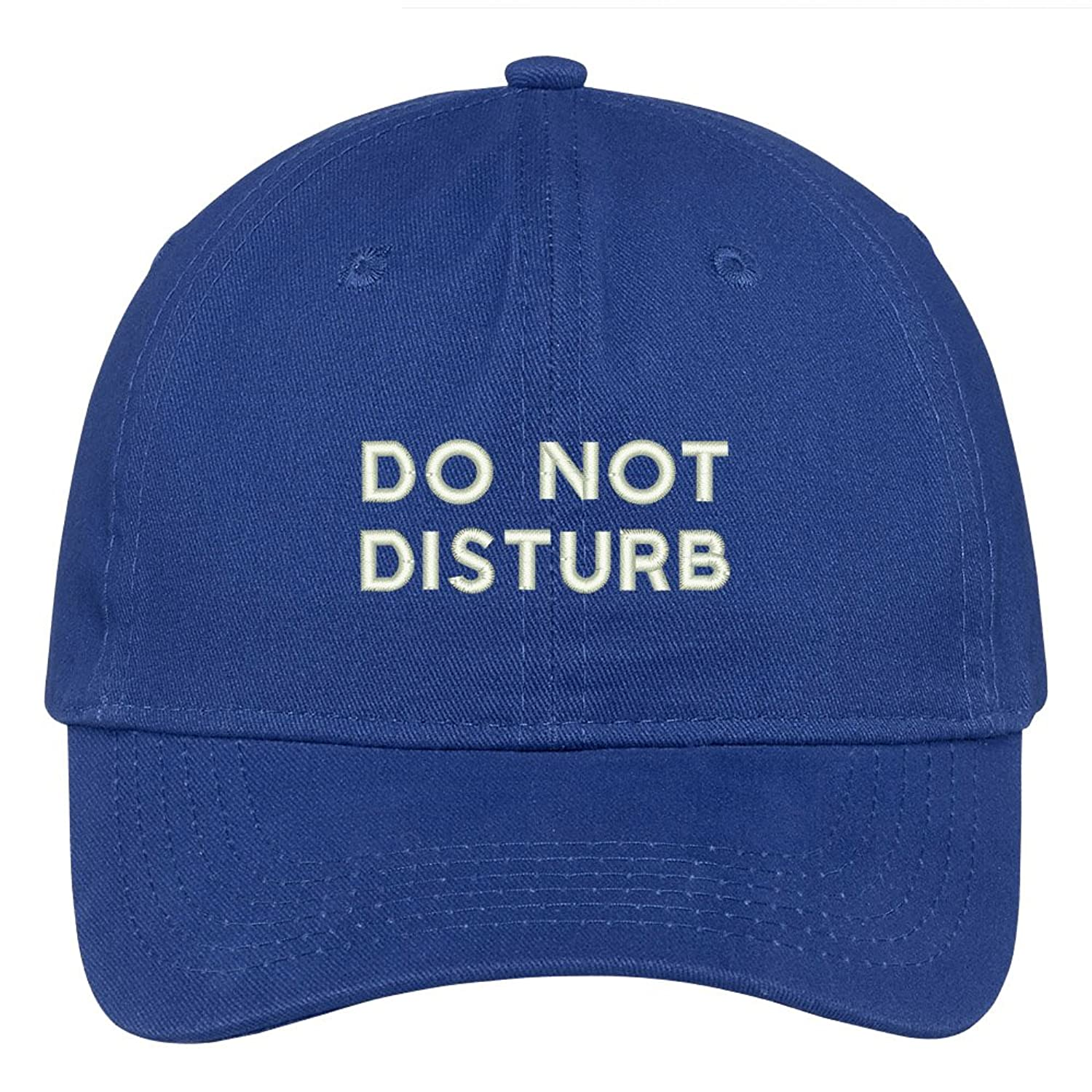 Do Not Disturb Embroidered Soft Low Profile Adjustable Cotton Cap