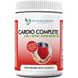 Cardio Complete - Heart Health and Cardiovascular Support Powder Supplement - 3-in-1 Nitric Oxide Booster with 5,000 L-Argini