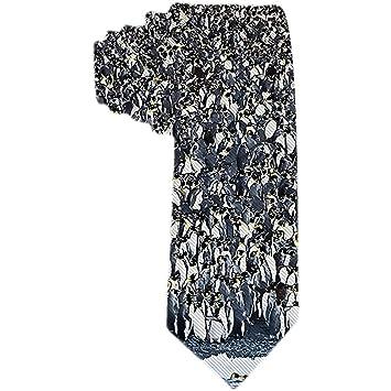 Corbata de pingüinos y corbata de seda de poliéster azul marino ...