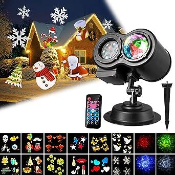 Noël Télécommande4 De Remplaçables LampeLed Intérieureextérieure Décorations Lumière Projecteur Scène12 Plaquettes ÉtancheLampe bY7fgy6