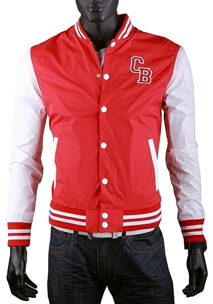 Cipo & Baxx - Chaqueta - universidad - para hombre rojo rojo ...