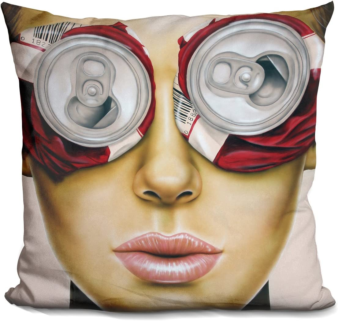 LiLiPi Beer Goggles Decorative Accent Throw Pillow