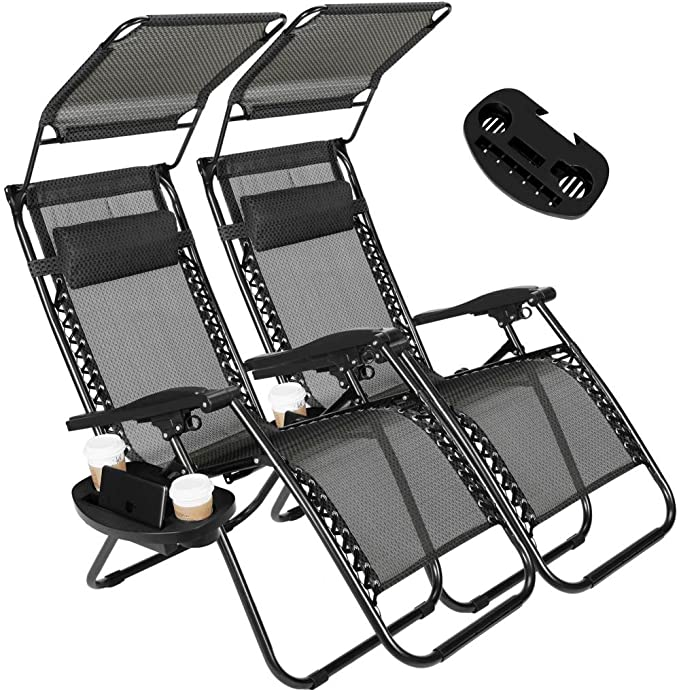Artist Hand 2 Pack Of Folding Chairs With Canopy And Footrest