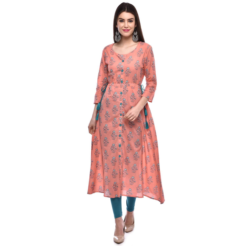 A-Line Cotton Kurta For Women's