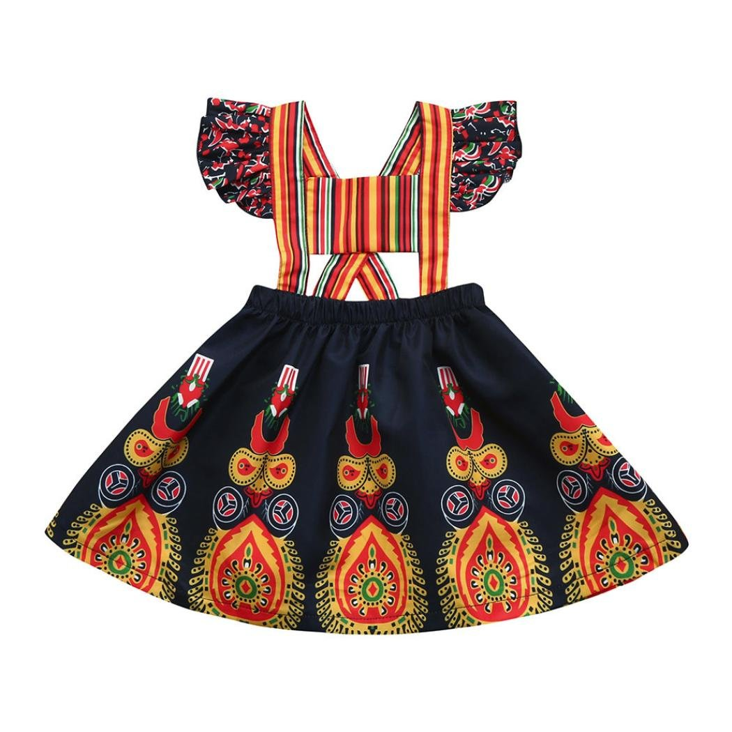 b13fbac019d0 Amazon.com  Exotic Dress for Little Girl Franterd Toddler Kids Baby Summer  African Beach Pageant Backless Dresses  Sports   Outdoors