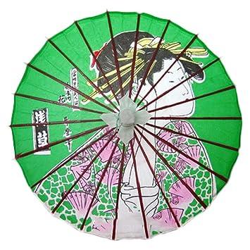 No-impermeable al óleo a mano papel japonés paraguas Restaurante decorado con paraguas #47