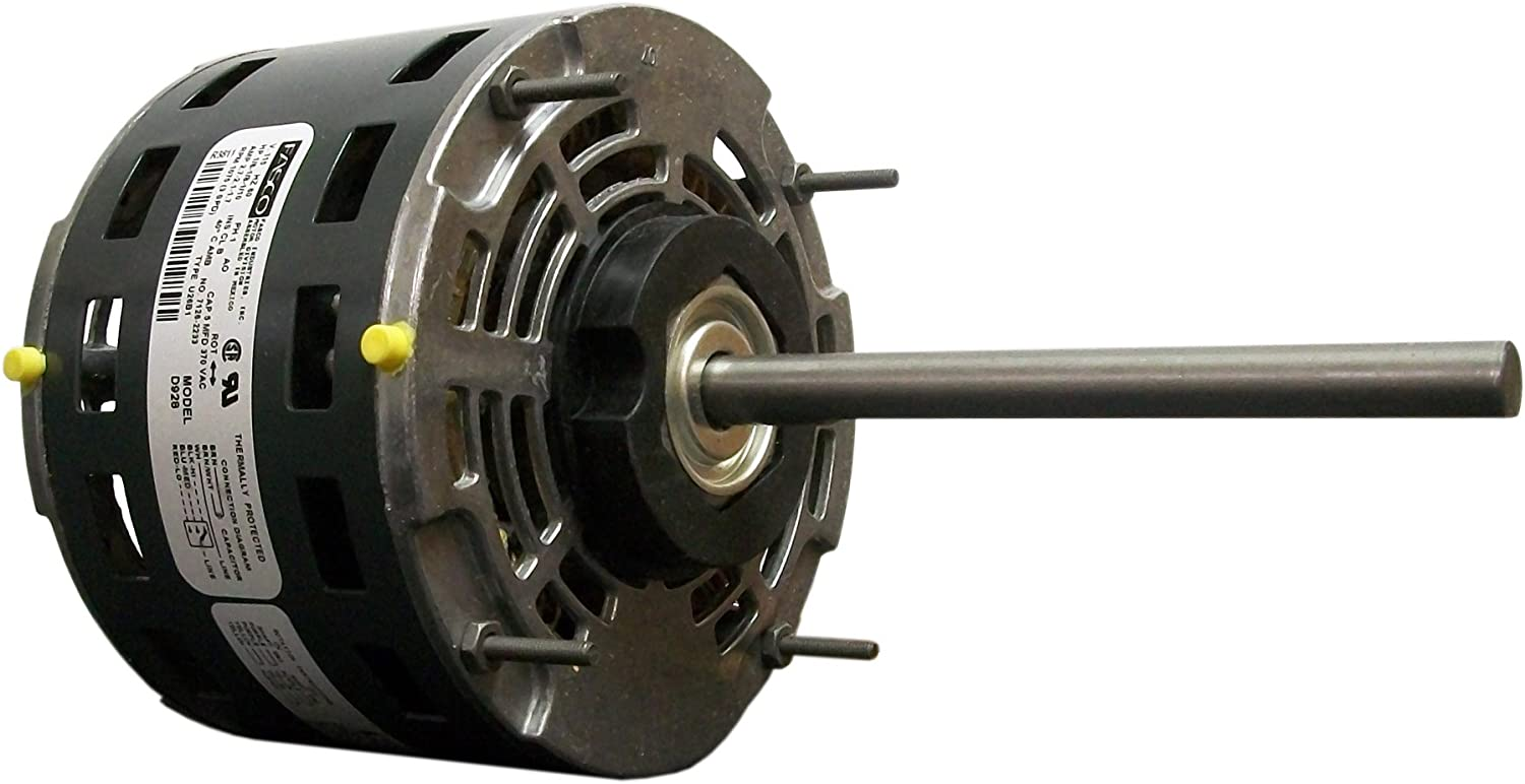 Fasco D728 5.6-Inch Direct Drive Blower Motor, 3/4 HP, 115 Volts, 1075 RPM, 3 Speed, 10.5 Amps, OAO Enclosure, Reversible Rotation, Sleeve Bearing