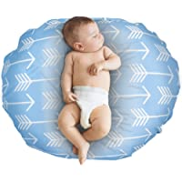 Removable Cover for Newborn Baby Lounger/Water Resistant/Soft and Comfy/Hypoallergenic/Premium Quality/Easy Cleaning-Blue Arrow(Lounger Pillow Not Included)