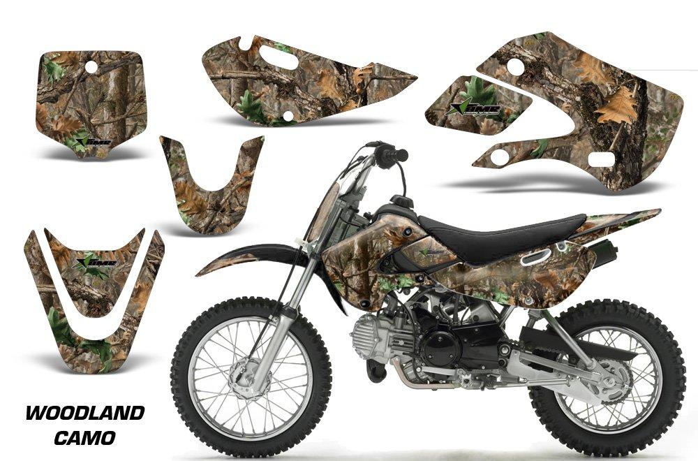 Kawasaki kx65 2002 – 2016 MXダートバイクグラフィックキットステッカーデカールKX 65ウッドランドカモ   B075NSFLKL
