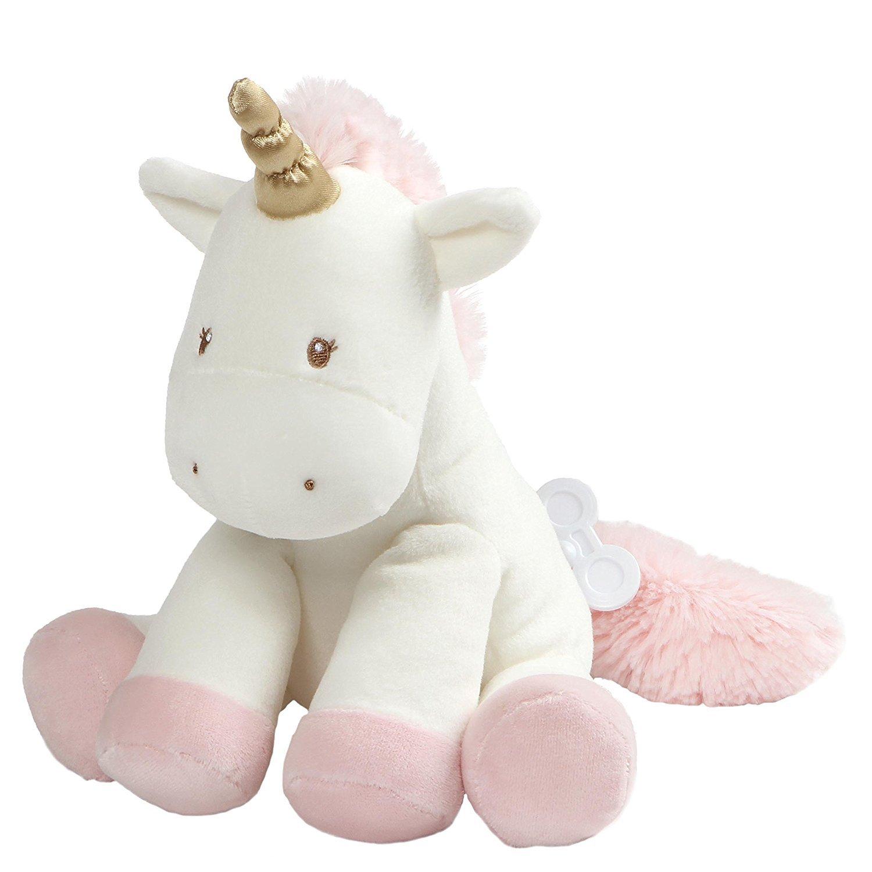 "Baby GUND Luna Unicorn Keywind Musical Lullaby Stuffed Animal Sound Plush, 9"" 9"" 4060807"