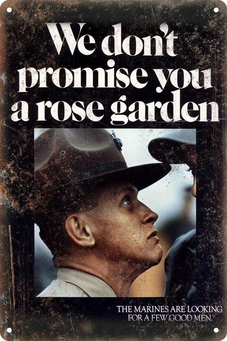 """We Don'T Promise You A Rose Garden United States Marine Corps Recruitment Poster 8""""x12"""" Home Bar Pub Decorative Metal Tin Sign Wall Poster NY-03"""
