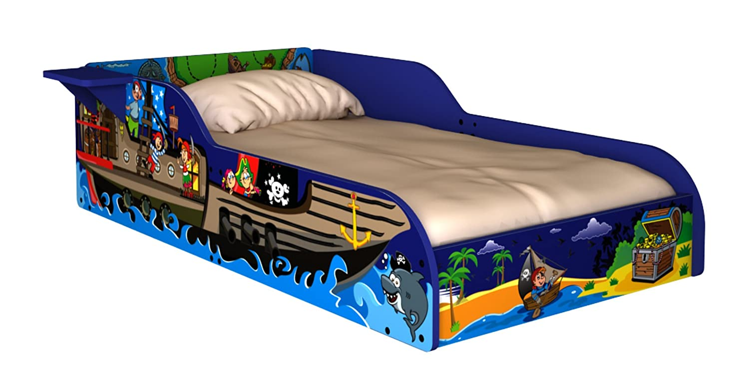 Toddler travel bed with sides - Amazon Com Rack Furniture Pirate Toddler Bed With Side Shelf Kitchen Dining