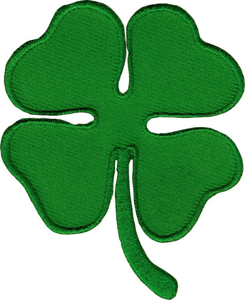 Ireland Heritage Irish Four Leaf Clover Shamrock 4 inch Iron-on Patch