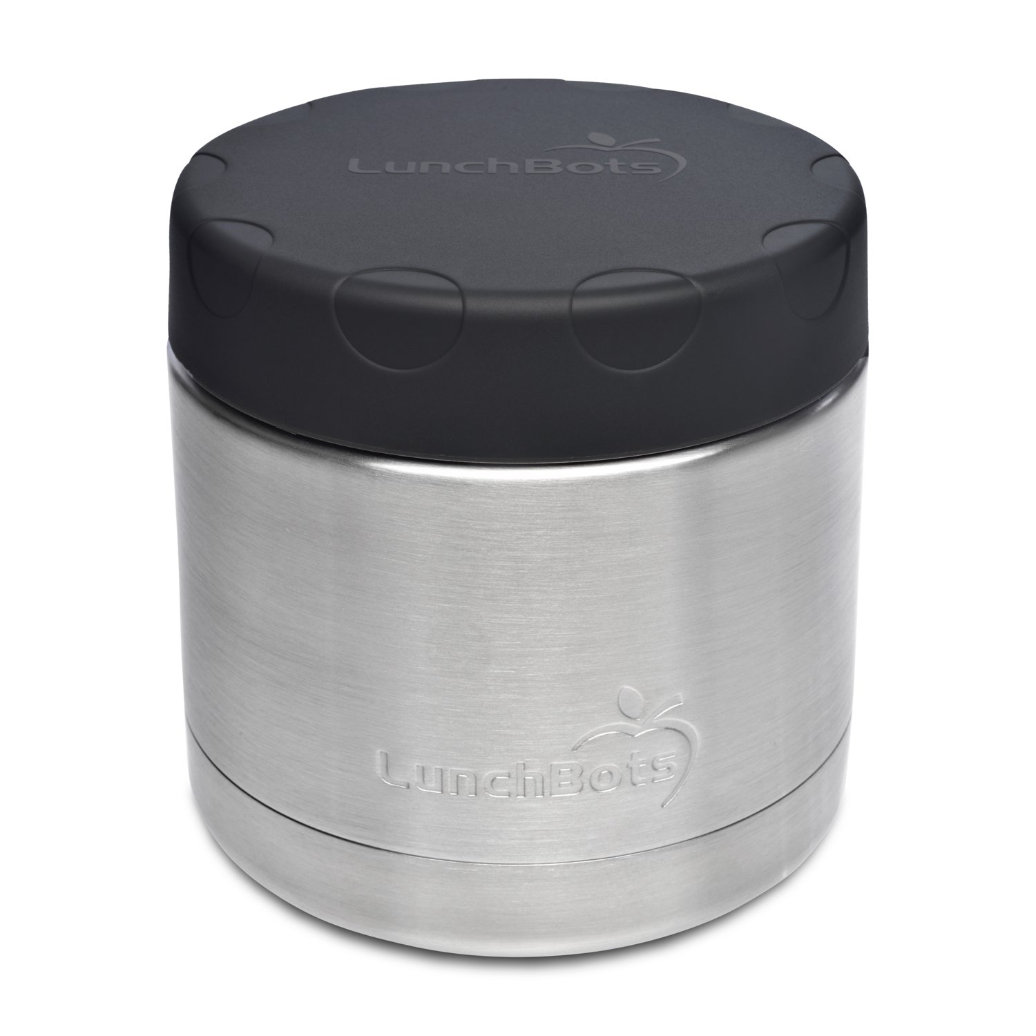 LunchBots Wide Thermal 16 oz. All Stainless Steel Bowl - Insulated Food Container Stays Hot 6 Hours or Cold for 12 Hours - Leak Proof Soup Jar for Portable Convenience - Black