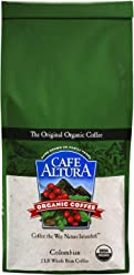 Cafe Altura Whole Bean Organic Coffee, Colombian, 2 Pound