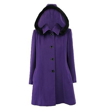 Mantel lila mit kapuze