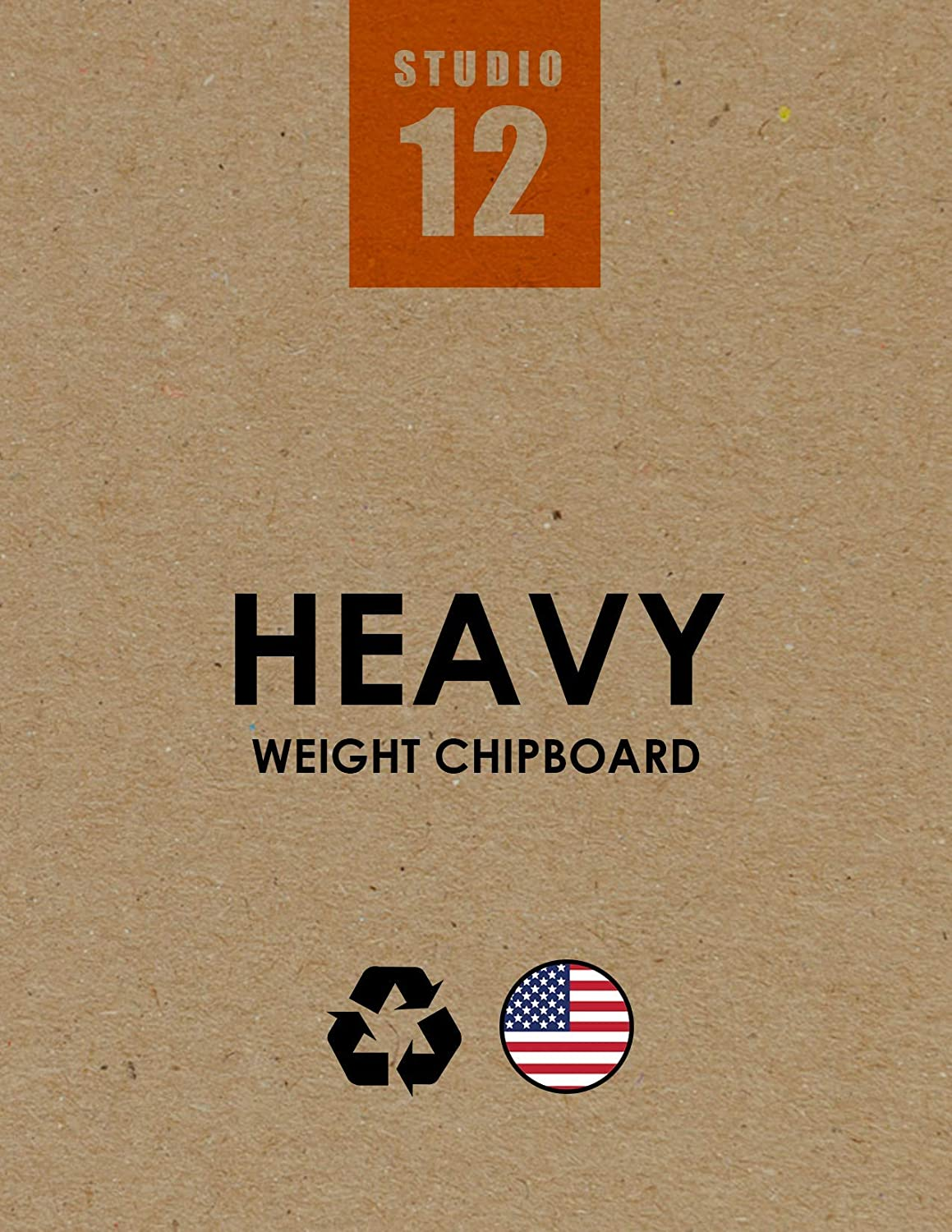 Heavy Weight Natural Kraft Brown 25 Sheets Studio 12 Chipboard Sheets Great for Model Building 11 x 17 Creative Projects and Protecting Valuable Photos and documents. Scrap Booking