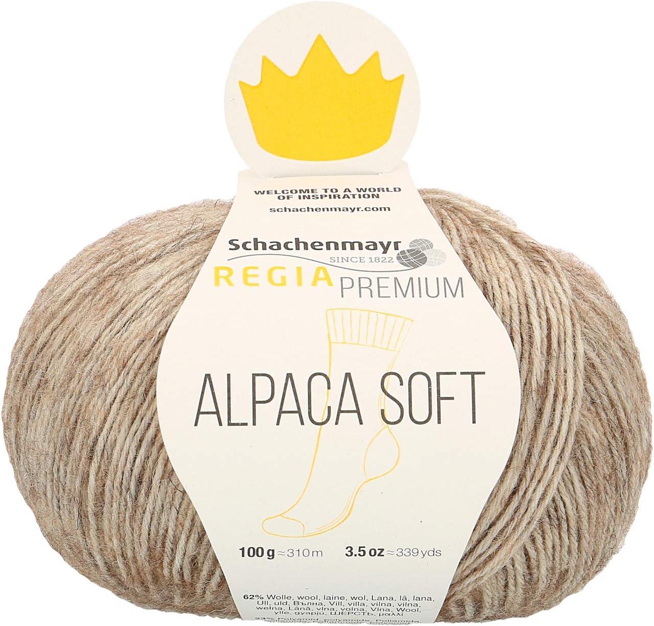 100G Hellblau Schachenmayr REGIA Hilos para Tejer A Mano Premium Alpaca Soft