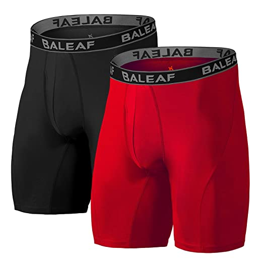 """1e5e5224a347fb Baleaf 9"""" Men's Active Underwear Sport Cool Dry Performance Boxer  Briefs with Fly 2-"""