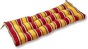 Greendale Home Fashions AZ4805-CARNIVAL Fiesta Stripe 44-inch Outdoor Swing/Bench Cushion