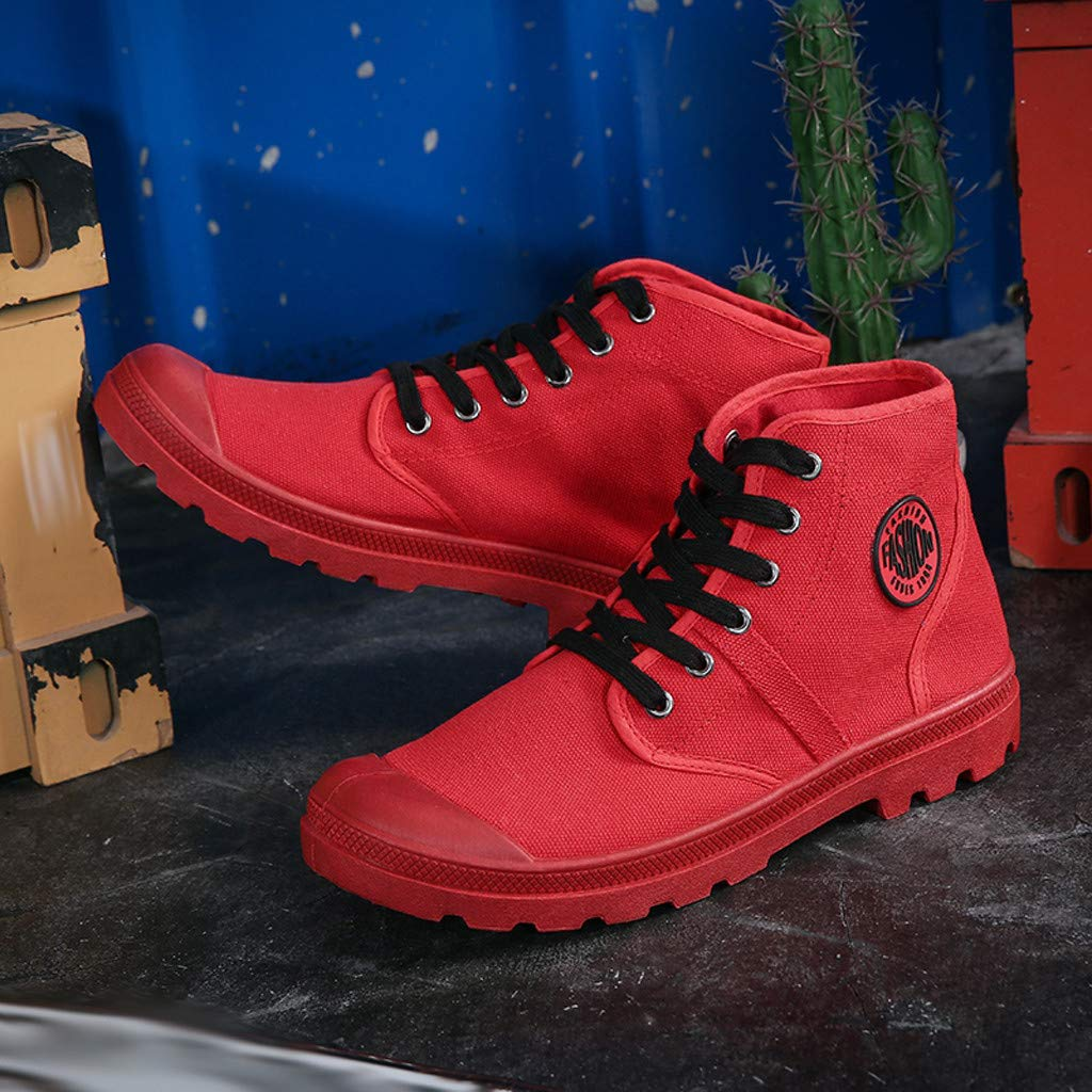Mens Canvas Sneakers High Top Lace-up Casual Walking Shoes Matchcourt High Running Shoe
