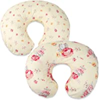 Onacosht Nursing Pillow Cover 2 Pack 100% Cotton Ultra Soft Snug Fits on Infant Breastfeeding Support Pillow Floral Pattern for Baby Girl