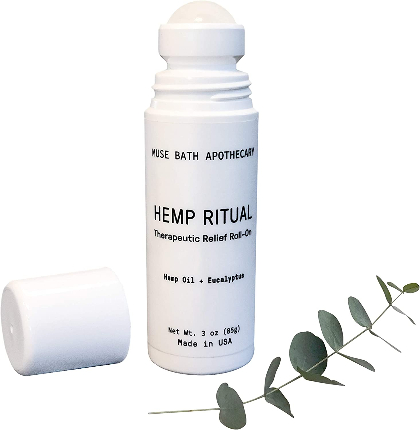 Muse Bath Apothecary Hemp Ritual - Therapeutic Relief Roll-On, 3 oz, USDA Certified Organic Hemp Seed Oil, Post-Workout Recovery, Helps Relieve Arthritis, Muscle & Joint Pain, Tension & Discomfort