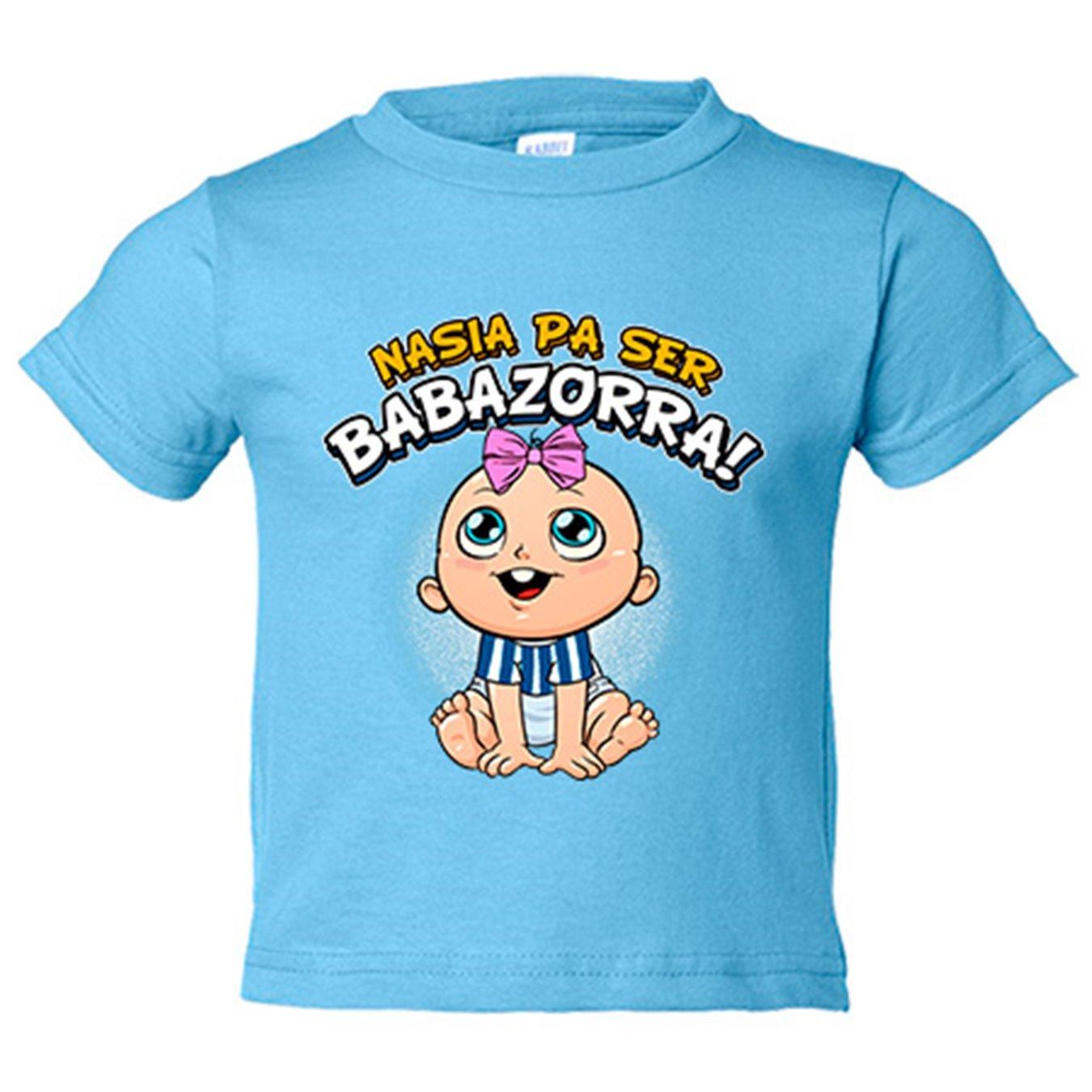 Camiseta niño nacida para ser Babazorra Alavés fútbol - Azul Royal, 3-4 años: Amazon.es: Bebé
