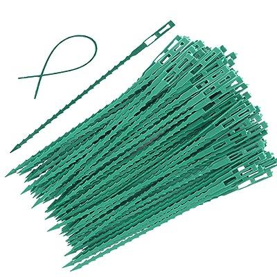 30 Pieces Adjustable Garden Plant Twist Ties, 9 Inch Flexible Plastic Twist Ties Multi-Use for Secure Vine (Green) : Garden & Outdoor