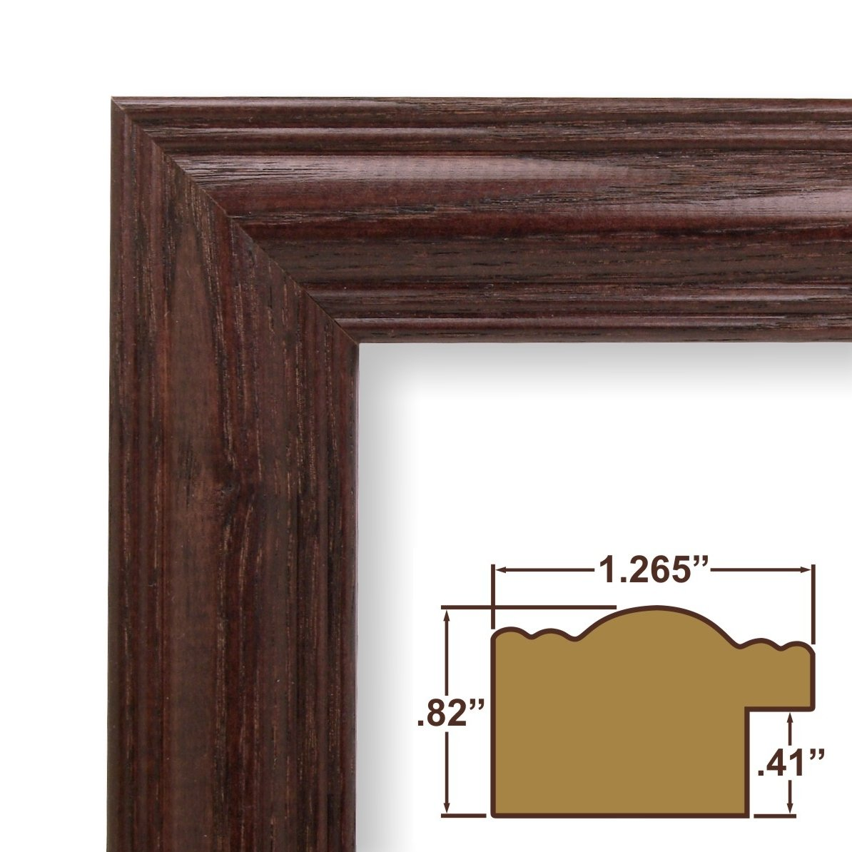 amazoncom 13x24 picture poster frame wood grain finish 1265 wide cherry red 440ch - Wood Poster Frames