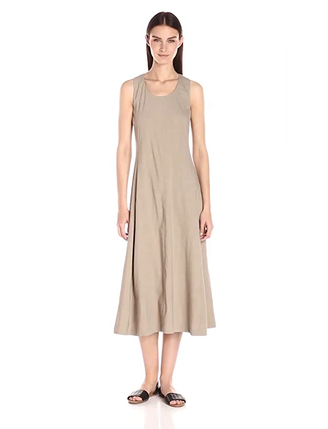 Amazon.com: Theory Womens Vlorine Crunch Wash Midi Dress, Warm Cocoon, 8: Clothing