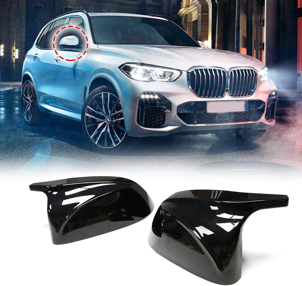JenNiFer Glossy Black Side Autospiegelabdeckung F/ür BMW X3 G01 2018 F/ür BMW X7 G07 2018 + F/ür BMW X5 G05 2018 F/ür BMW X4 G02 2018